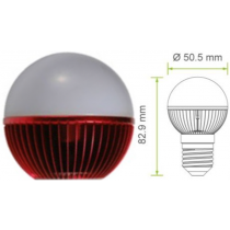 Rode Led kogel E27 G19 220V 7W 140Lm 180° Epistar  - kogellampen
