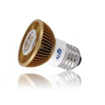 Led spot E27 MR16 230Volt 7Watt warm wit 400Lm 15° Luxeon - led spots